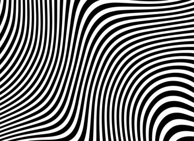 Bild minimal abstract red and white background. wave line pattern. optical art. opart striped. modern wave. geometric line stripes. logo. vector