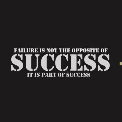 Bild Misserfolg ist nicht das Gegenteil von Erfolg. Es ist Teil des Erfolges.
