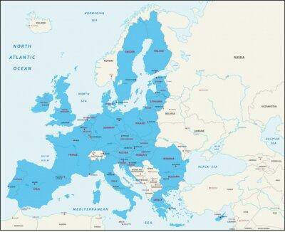 Bild Mitgliedstaaten der Europäischen Union Karte