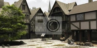 Mittelalterliche oder Fantasy Town Centre Marketplace