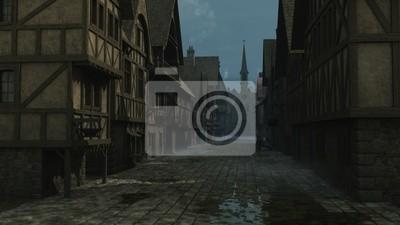 Mittelalterliche Street Scene - 1