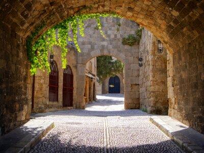 Bild Mittelalterliches Bogenstraße in der Altstadt von Rhodos, Griechenland