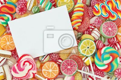Mixed Bunten Obst Bonbon Hautnah Leinwandbilder Bilder Jellybean