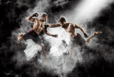 Bild MMA boxers fighters fight in fights without rules