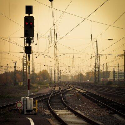 Bild Mobile Fotografie Ton verwirrend Schienen Dämmerung