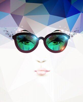 Bild Mode Frau mit Brille