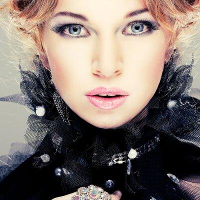 Bild Mode Mädchen portrait.Accessorys.Red Haare.
