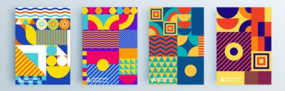 Bild Modern abstract covers set, minimal covers design. Colorful geometric background, vector illustration.