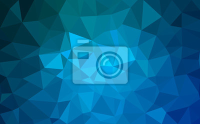 Bild Modern blue abstract polygonal background. Geometric texture background