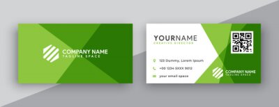 Bild modern business card design . double sided business card design template . flat gradation business card inspiration