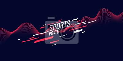 Bild Modern colored poster for sports. Illustration suitable for design