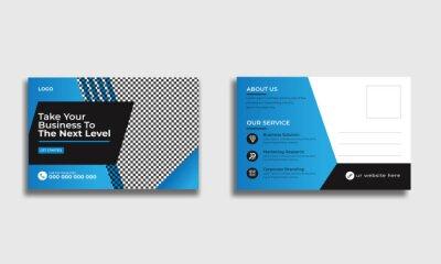 Bild modern corporate postcard design