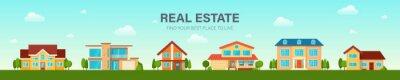 Bild Modern cottage house set. Real Estate concept.