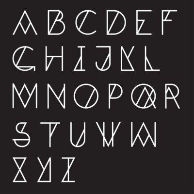 Bild Modern geometrische Alphabet