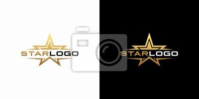 Bild Modern gold star logo design vector. Stars logo design concept