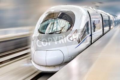 Bild Modern Hi-Speed  Passenger Train. Motion effect.