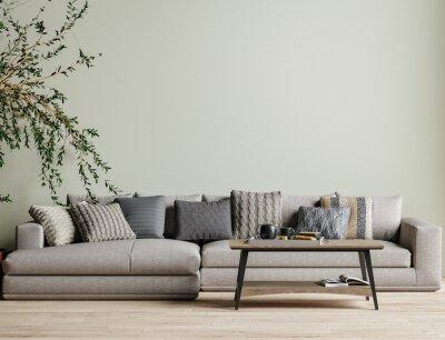 Bild Modern interior background, wall mock up, 3d render