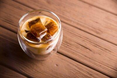 Bild Modern summer refreshing drink with iced coffee cubes