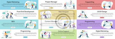 Bild Modern web business service advert banner or website header.