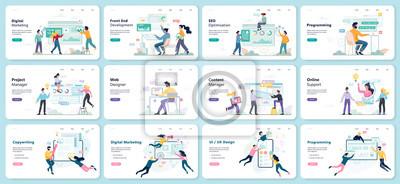 Bild Modern web business service set. Web development