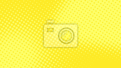 Bild Modern yellow pop art background with halftone dots desing in comic style, vector illustration eps10