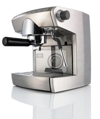 Bild Moderne Coffee Machine (maker) isoliert auf weiß + Clipping Path.