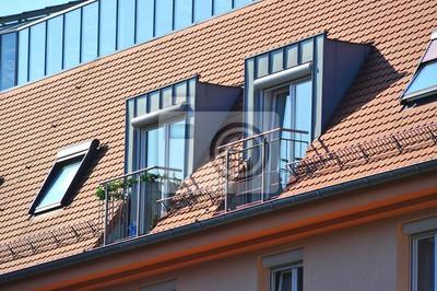 Moderne Dach Mit Gaube Leinwandbilder Bilder Erker Rollo