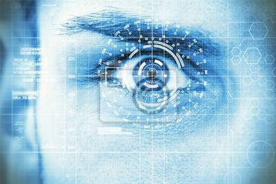 Moderne, digitale Auge