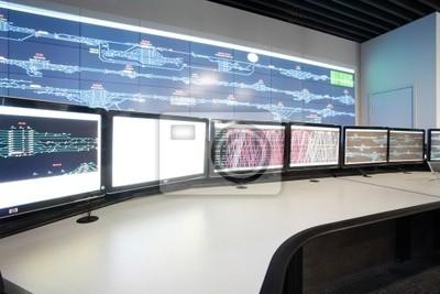 Moderne elektronische Technologie im Inneren der Warte