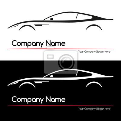 Bild Moderne Executive Sport Silhouette Konzept Auto. Einfaches Element.  Abbildung.