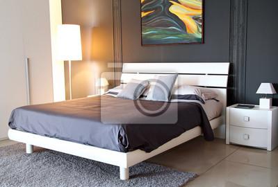 Moderne graue Farbe Schlafzimmer