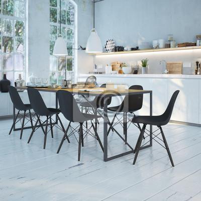 Moderne küche in altbau wohnung - moderne küche im alten loft ...
