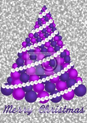 Rosa Weihnachtsbaum.Bild Moderne Rosa Weihnachtsbaum Mit Text Merry Christmas