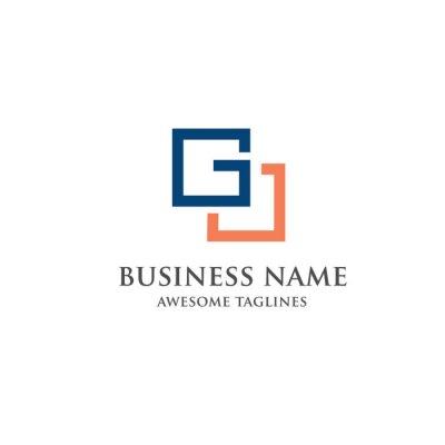 Bild Moderne Und Elegante Minimalistische Buchstaben G Quadrat Logo Konzept.