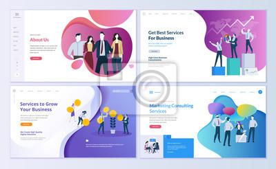 Bild Moderne Vektorillustrationskonzepte für Website- und bewegliche Websiteentwicklung.