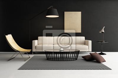 Lounge möbel wohnzimmer  Moderne zeitgenössische wohnzimmer, lounge-möbel leinwandbilder ...