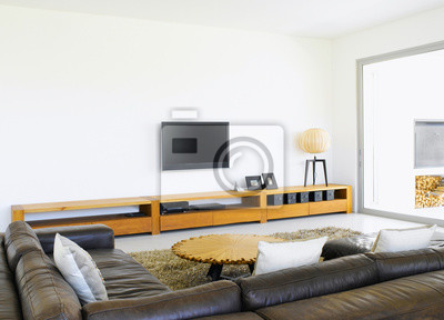 Modernen wohnzimmer leinwandbilder • bilder appartment, Couch ...
