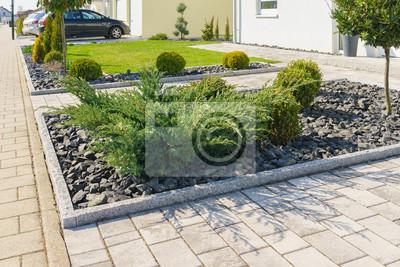 Moderner steingarten leinwandbilder • bilder Naturstein, in Gips ...