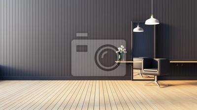 Bild Moderner u. Lebender Salon Innen / 3D übertragen Bild