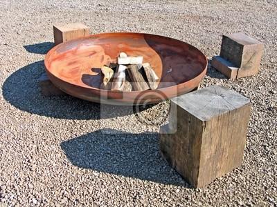 Bild Modernes Design Feuerstelle