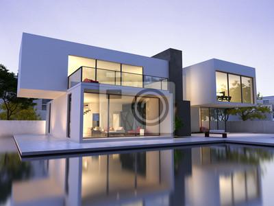 Bild Modernes Haus mit Pool