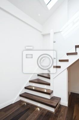 Modernes Treppenhaus Leinwandbilder Bilder Riser Gelander