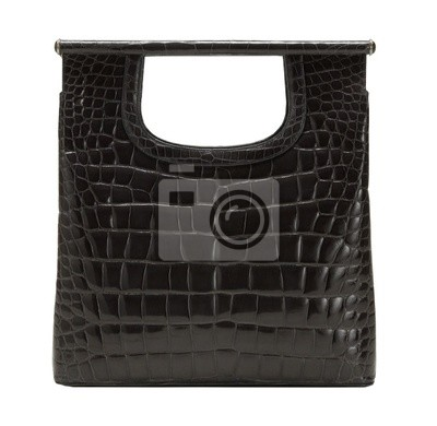 Bild Modische Handtasche, isoliert auf weiß mit Clipping-Pfad. XXL