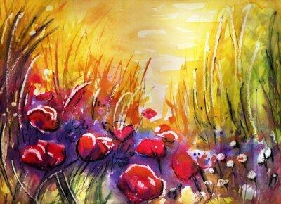 Bild Mohnblumen auf der Wiese