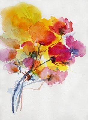 Bild Mohnblumen malerei aquarell