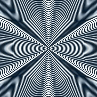 Moire-Muster, op Art Hintergrund. Hypnotische geometrische Kulisse