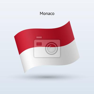 Monaco Fahnenschwingen Form. Vektor-Illustration.