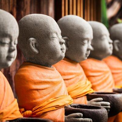 Bild Mönch-Statue halten Schüssel