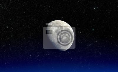 Mond. Elemente dieses Bildes von der NASA eingerichtet