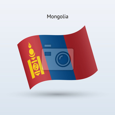Mongolei Fahnenschwingen Form. Vektor-Illustration.